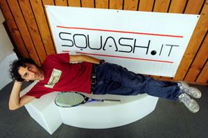 Davide Bianchetti, pluricampione italiano di squash e Testimonial di Squash.it