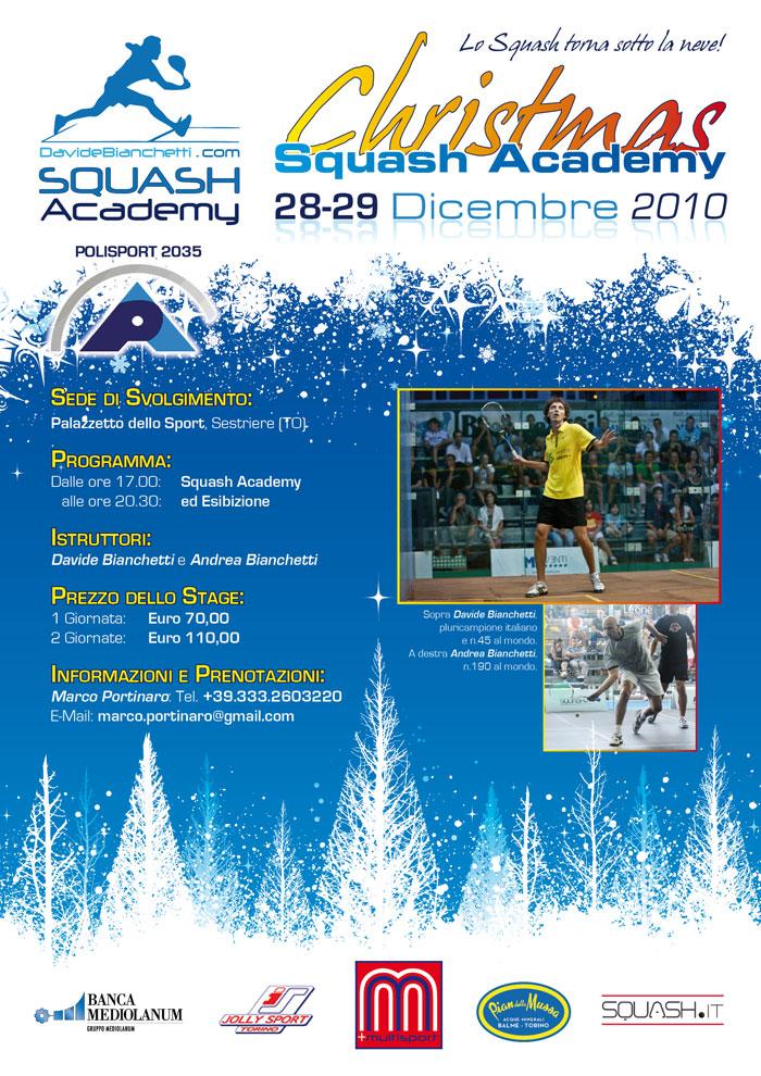 Poster Christmas Squash Academy