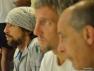 Da sinistra: Stephane Galifi, Marcus Berrett e il CT Vinicio Menegozzi osservano la partita di Davide Bianchetti