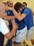 La squadra azzurra esulta dopo la vittoria contro il Messico