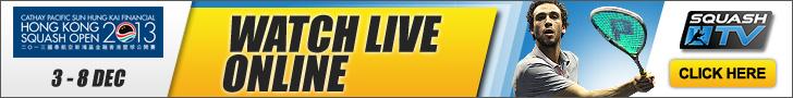 Guarda le partite Live su SquashTV!