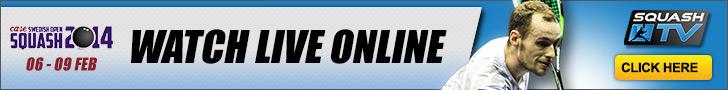Guarda le partite Live su SquashTV