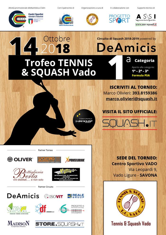 Trofeotennis It Calendario Tornei.Csain Trofeo Tennis Squash Vado Cat I Vado Ligure Sv
