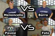 I 4 semifinalisti: Menoncello-Barra e Pavesi-Fato