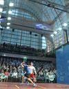 La spettacolare cornice dell'ISS CANARY Wharf Squash Classic a Londra