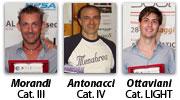 I vincitori dei Circuiti di Categoria 2010-2011: Giampietro Morandi, Roberto Antonacci e Riccardo Ottaviani
