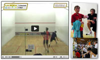 Guarda il Video integrale dell'esibizione tra il n.1 italiano Davide Bianchetti e la leggenda dello squash Peter Nicol