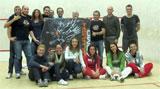 Il gruppo di giocatori e giocatrici presenti al Trofeo della Sagra presso la Polisportiva di Cagno