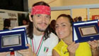 Andrea Torricini e Monica Menegozzi, vincitori degli Open Città d'Italia a Bari