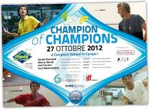 DVF CHAMPION of CHAMPIONS: 27 Ottobre 2012 - Palasprint, PARMA