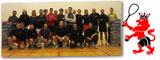Il folto gruppo presente all'Albavilla Sport Center sabato 23 febbraio in occasione del Trofeo KEAN