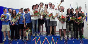 Il podio dei Campionati Assoluti a Squadre FIGS 2013