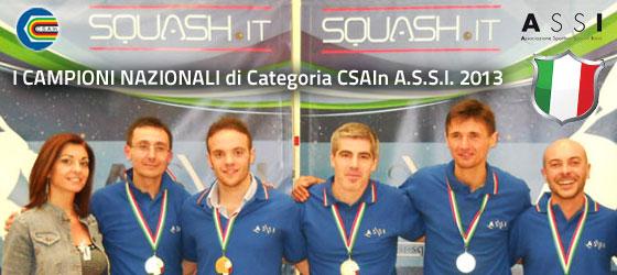 I Campioni Nazionali CSAIn ASSI 2013 di Categoria!