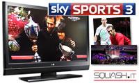 Amr Shabana e Nicol David vincono le World Series Finals 2013 davanti al pubblico televisivo si Sky ed Eurosport!