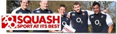 England Rugby Team Backs Squash 2020 Olympic Bid!