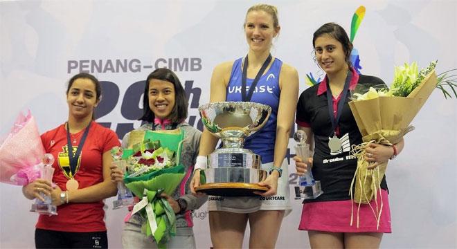 Le prime 4 classificate ai Campionati del Mondo Femminile di Squash 2014