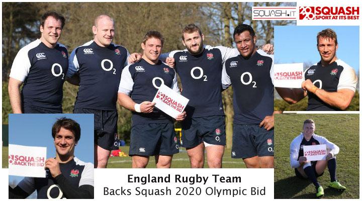 England Rugby Team Backs Squash 2020 Olympic Bid