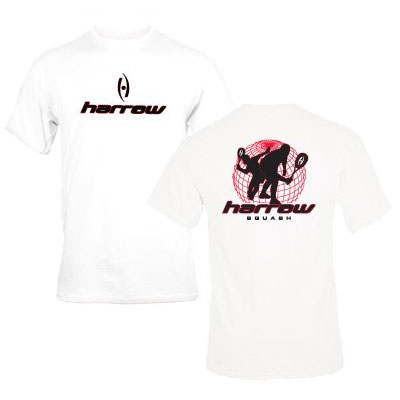 T-Shirt Harrow World Squash Tour (Bianco)